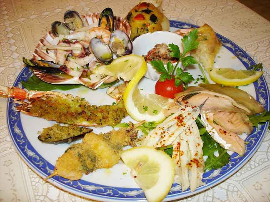 Antipasto di pesce Ristorante La Tana Maratea