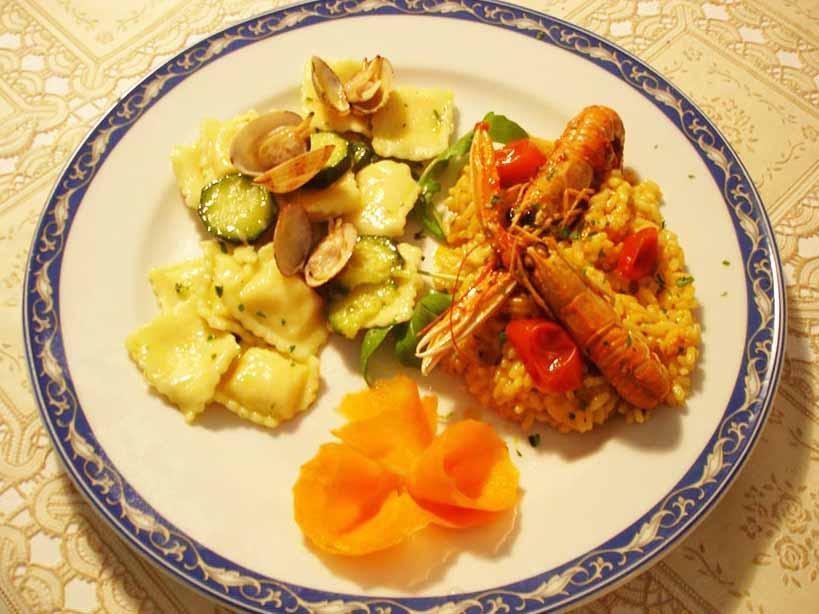 Risotto agli scampi ristorante la Tana Maratea