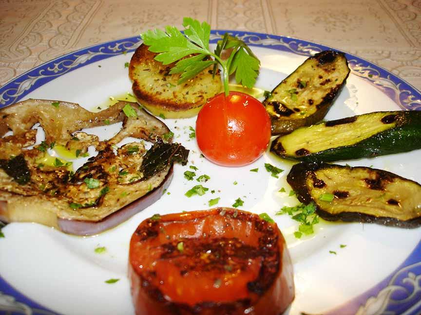 Contorno di verdure grigliate Ristorante Maratea La Tana