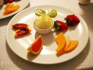 tagliata di Frutta Ristorante La Tana Maratea