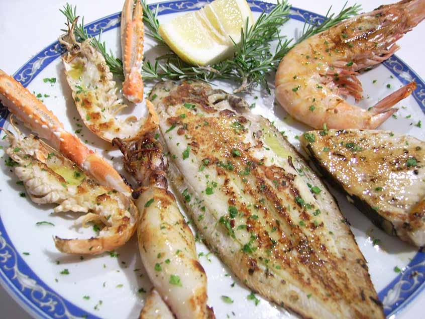 grigliata mista di pesce ristorante la Tana Maratea